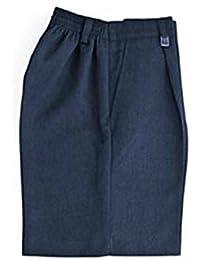 Escuela Niños uniforme cintura elástica Pull Up Pantalón corto pantalones todos los tamaños gris