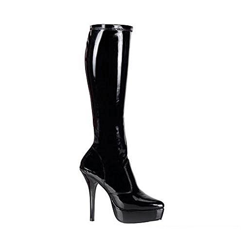 Stiefel Lack schwarz Schwarz (Lack Schwarz)