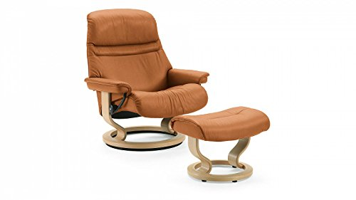 Stressless® Sunrise Sessel mit Hocker (M) Braun günstig