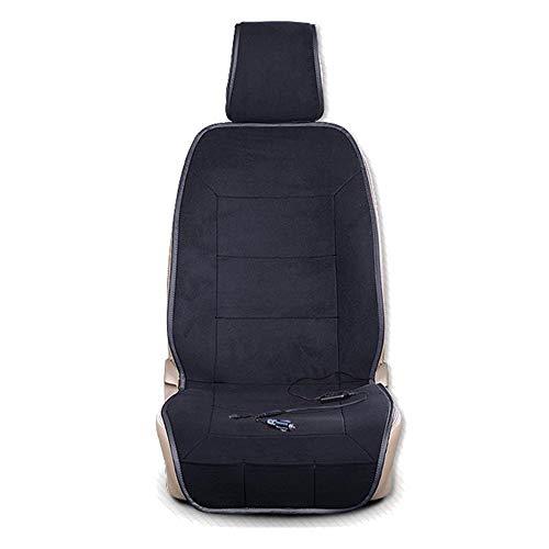 Preisvergleich Produktbild XINGWEI CAR 12V Beheiztes Auto Sitzkissen,  Elektrische Heizung Kissen Kurze Plüsch Mit Intelligenten Fernbedienung Schalter,  Einzel- / Doppelsitz, Black-SEAT(1)