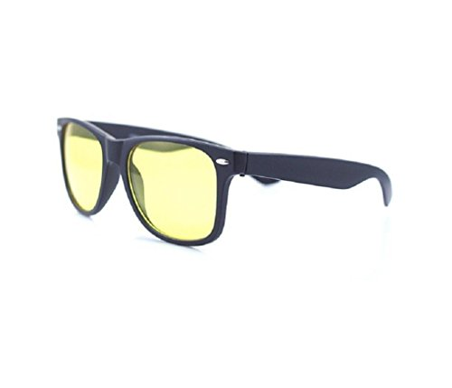 4sold Anti Glare Glasses Night Driving Yellow Lens Glasses, Tortoise Shell Brown Frame, Men, Women, Unisex