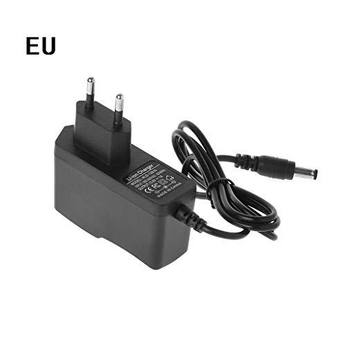 JERKKY EU-Stecker 12,6 V 1A Lithium-Akkuladegerät 18650 / Polymer Battery Pack 100-240 V 5,5 MM x 2,1 MM Ladegerät mit Drahtzuleitung DC 240v-akku-pack