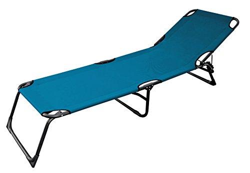 3-Bein Gartenliege mit 600gr. Oxford Gewebe blau