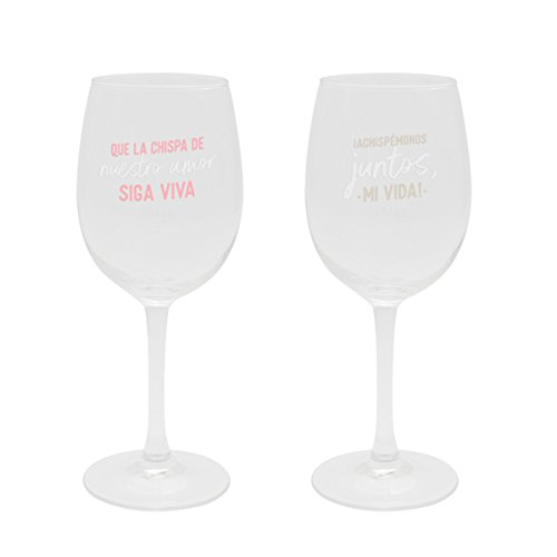 "Mr. Wonderful Set de 2 copas de vino ""Para brindar (y lo que surja)"""