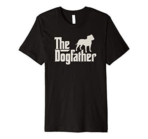 The Dogfather Staffordshire Bullterrier Hundepapa Shirt -