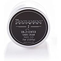 The Gentlemens Refinery 'UnScented' Shave Cream (75ml) TSA Travel Size All-Natural and Organic