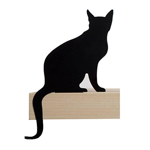 Artori Design AD192DB Cat's Meow Diva Figurine décorative en métal représentant une silhouette de chat, noir