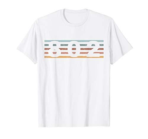 802 Vorwahl Retro Vermont Burlington T-Shirt -