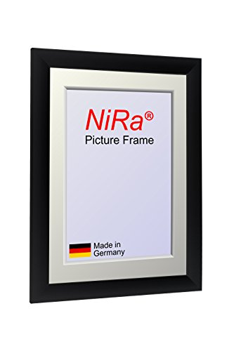 NiRa35 MDF Bilderrahmen für 19 cm x 29 cm Bilder - Farbe - Schwarz matt MDF Holzrahmen...