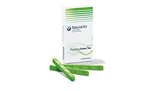 BMW Natural Air Nachfüllpackung Innenraumduft Green Tea Tonic Raindrops Amper Harmonizing Flowers Woods (Green Tea) (Green Tonic Tea)