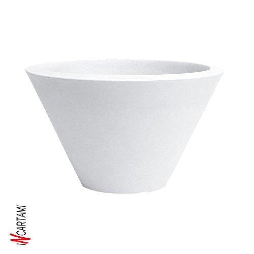 hydroflora 63002400 vaso a ciotola elegante Nicoli Chiron, diametro 50, altezza 29 cm