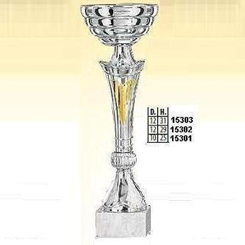 COPPA 26 CM ALTEZZA 10 CM DIAMETRO BASE 6x2 CM 15301 ADM s.r.l. - 10 Trofeo Coppa