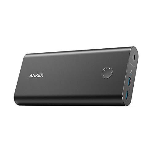 Anker Caricabatterie Portatile PowerCore+ 26800 PD, Batteria Esterna Power Bank con Power USB-C con Input a Ricarica Rapida e Output da 30W per iPhone X/8/8 Plus/MacBook con USB Type-C