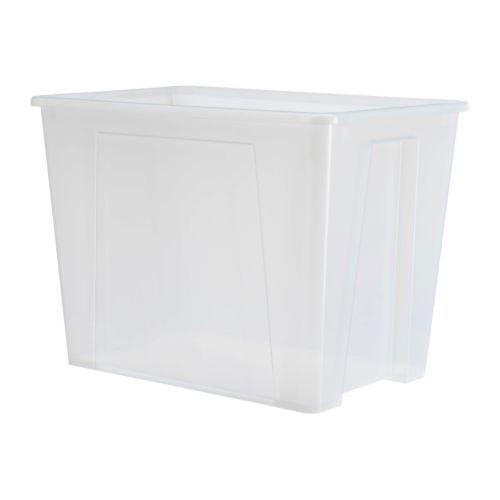 IKEA SAMLA Box 65 Liter; transparent (Samla Box)