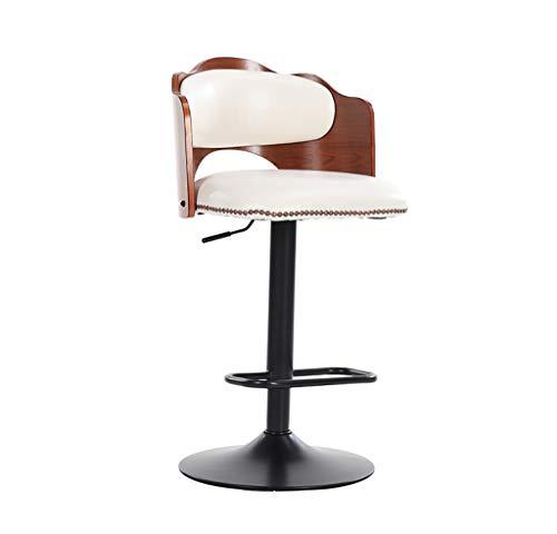 Barhocker Barmöbel Hocker Mode einfache hohe Hocker drehbare Barhocker mit auf und ab verstellbaren Sitzaufnahmebereich Tisch und Stühlen Familie und Geschäft | Höhe 52-78cm weißer Barhocker Barstühle