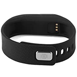 Generic Smart Sport Bracelet TW64 Smartband Wristband Fitness Tracker Bluetooth 4.0 Time Display Flexible Watch for Ios Android System (Black)