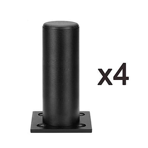 Möbelfüße Verstellbare Rundes Tv-Schrankgestell Aus Schwarzem Aluminium, Anzahl: 4 StüCk, HöHe Optional