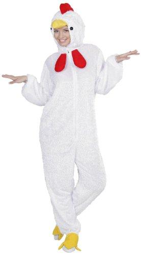 Dress Fancy Hahn Kostüm - Widmann 9263B - Erwachsenenkostüm Huhn, Overall mit Maske, Größe M / L