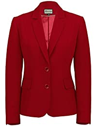 Busy Clothing Womens Burgundy Red Suit Jacket