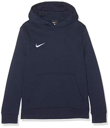Kinder Hoodies Blau (Nike Unisex-Erwachsene Y HOODIE PO FLC TM CLUB19 Sweatshirt, Blau (Obsidian/White/451), Gr. L)