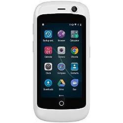 Unihertz Jelly Pro, Le Smartphone 4G Le Plus Petit dans Le Monde, Android 7.0 Nougat Smartphone débloqué avec 2GB RAM et 16GB ROM, Blanc Perle