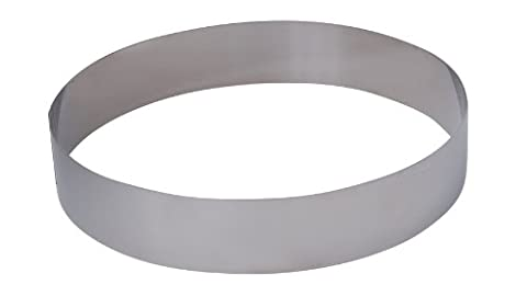 De Buyer 3989.24 Stainless Steel Round Ring, 4.5 cm High, 24 cm Diameter