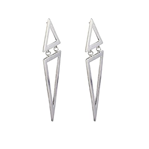 Women's Earrings, Brisky Girls' Fashion Vintage Design Geometric Big Triangle Stud New