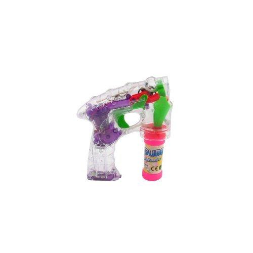 1x 2x oder 3x Seifenblasenpistole im Paket mit Seifenwasserbehälter und Batterien (2 er Set)