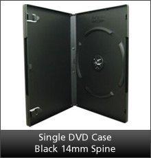 Single DVD Case Black-14mm Spine(20)