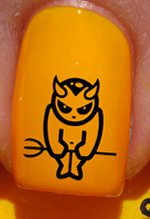 Halloween diable - Stickers pour ongles YRNAILS