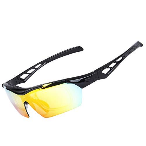 Lafeil Sportbrille Clear Damen Herren Polarisierte Sonnenbrillen Reitbrillen Outdoor Männer Und Frauen Sport Sandproof Goggles Schwarz
