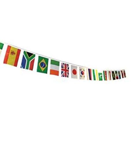 Mein Ji Flaggen Internationale Wimpelkette 24 Stück Flagge Anhänger mit Verschiedenen Ländern 14 * 21 cm National Flags Club Sport Bar Nationaldekoration