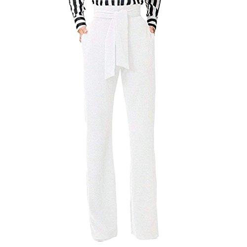 anteprima di selezionare per lo spazio più alla moda Pantaloni Vita Alta Donna Elegante Moda Pantaloni A Vita Donne Sciolto  Pantalone Larghi Comodo Pantaloni di Stoffa Basic Pants Cintura Inclusa  Colori ...
