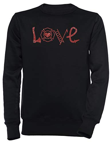 d2edaf3464a9 Erido Love Firefighters - Firefighter Hombre Unisexo Hombre Mujer Sudadera  Jersey Pullover Negro Tamaño M Men's Women's Jumper Black T-Shirt Medium  Size M