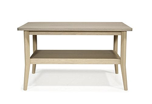 Macazba Table Basse Fifties Vernis Naturel & Taupe - Chêne Massif -88x50 H 50cm