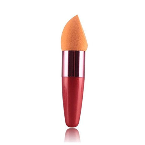 Honestyi Brosse à sucette éponge cosmétique pour femme Fond de teint crème liquide (Orange)