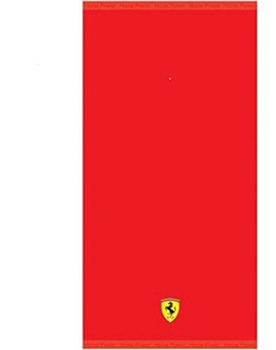 Telo mare asciugamano da bagno, asciugamano. Ottima qualità 100% cotone con logo Ferrari aufgestickt.
