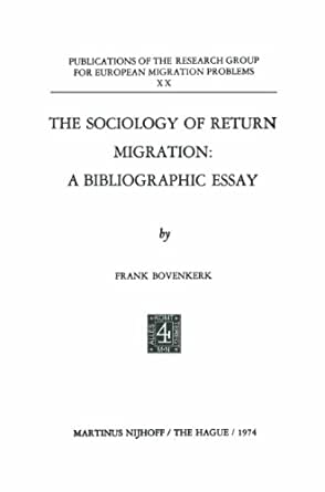 The Sociology Of Return Migration A Bibliographic Essay Research  Mrp