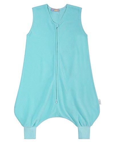 Kidsform Unisex Baby Ganzjährig Schlafsacke mit Füssen Winter Pyjama für Kinder Jumpsuit Nachtwäsche Himmelblau S/1-2Y