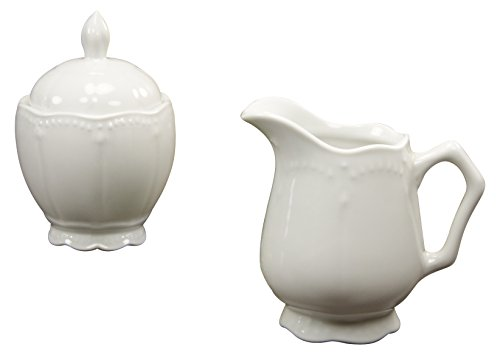 Creatable Milch-Zucker-Set 2 teilig, Porzellan, Weiß