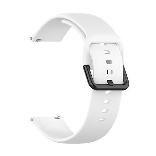 ❄TianranRT❄ Correa de Muñeca de Silicona de Repuesto Para Samsung Galaxy Watch Active R500(Blanco)