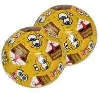 Spongebob Squarepants Soccer ball - 4in Spongebob soft vinyl ball (2pcs) .