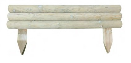 Cercado para valla rígida horizontal, para parterres y jardín, de madera de...
