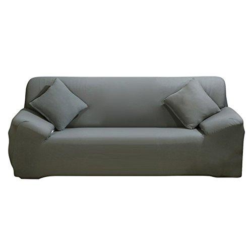 ele ELEOPTION Sofa Überwürfe Sofabezug Stretch elastische Sofahusse Sofa Abdeckung in Verschiedene Größe und Farbe Herstellergröße195-230cm (Grau, 3 Sitzer für Sofalänge 170-220cm) (Sicher, Sitz-sofa-abdeckung Dass Sie)