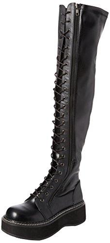 Demonia Damen EMILY-375 Kurzschaft Stiefel, Noir (Blk STR Vegan Leather), 40 EU -