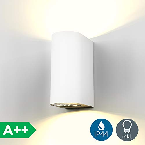 Aplique pared blanco para exterior y interior 2x5W