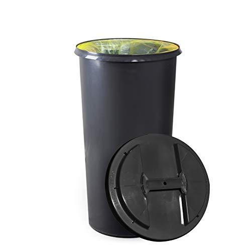 KUEFA BSC6-60L Mülleimer/Müllsackständer / Gelber Sack Ständer (Grau)