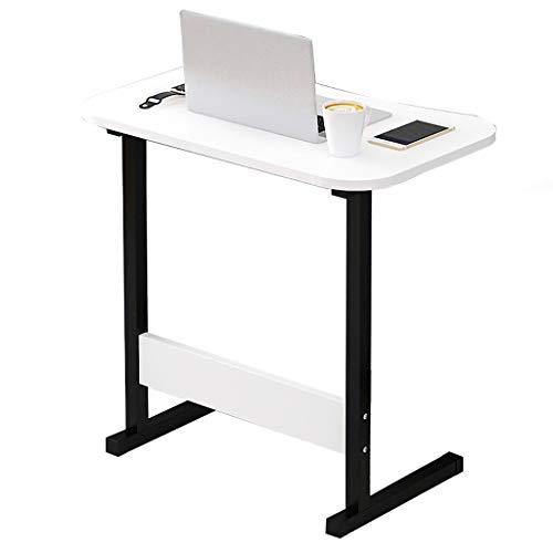 Gy capezzale tavolo porta computer portatile, postazione di lavoro mobile in piedi, pannello di legno, multifunzione domestico portatile tavolino vassoio, 4 colori, 60 * 40cm (colore : bianca)