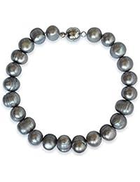 49ae8051477721 Collane a perle naturali d'acquadolce, patata, grigio, grado A, 8