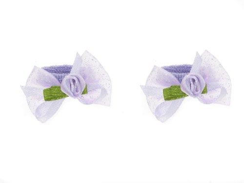 Glitz4Girlz Rosebud Lilac Bow Ponios by Glitz4Girlz